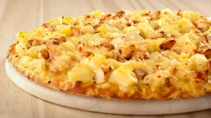 Pizza Curry-Huhn